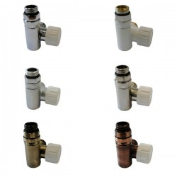 Zawór trzyosiowy termostatyczny do grzałki - lewy