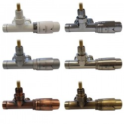 Zestaw termostatyczny jednorurowy figura kątowa prawa